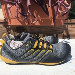 Merrell Barefoot zero drop running shoes yellow